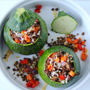 Courgettes farcies rondes