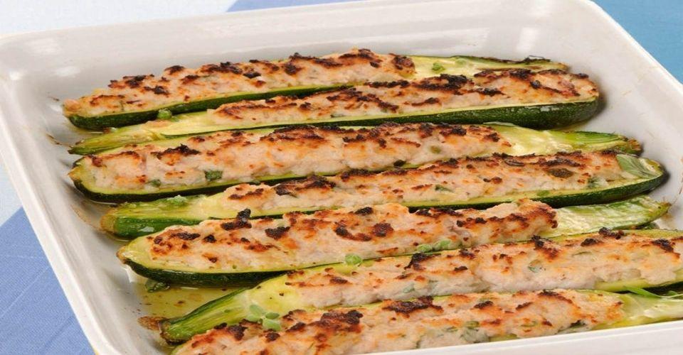 Courgettes farcies au saumon
