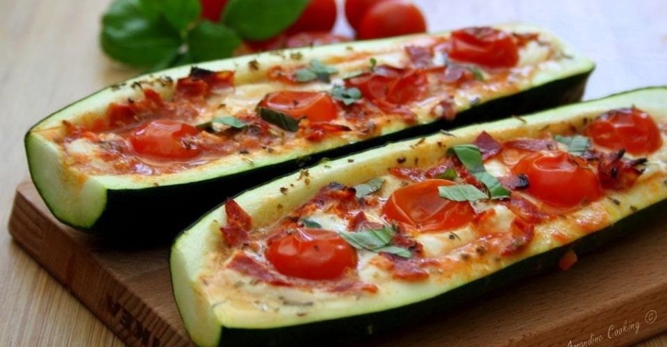 Courgettes farcies tomates Mozzarella